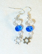 Clear and Sapphire Crystal Earrings