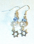 Lt Sapphire and Clear Crystal Earrings