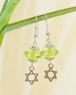 """Peridot"" Acrylic Earrings"