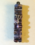 Purple Beaded Mezuzah