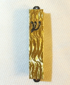 Gold Waves Mezuzah