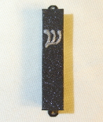 Black and Silver Bling Mezuzah