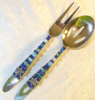 Beaded Salad Servers - River Jordan