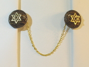 Gold Alligator (Imitation) Tallit Clips