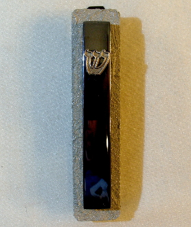 Mirrored Glass and Steel Mezuzah