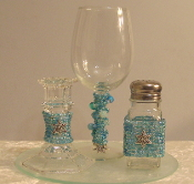 Aqua Beaded Havdalah Set