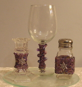 Mixed Purples Beaded Havdalah Set