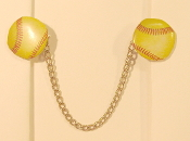 Sports Themed Tallit Clips - Softballs