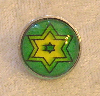 Star of David 3 - Snap Button