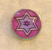 Star of David 6 - Snap Button