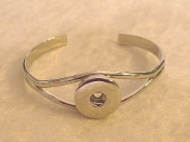 Silver Snap Button Bracelet