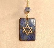 Copper Enamel Necklace - Blue III