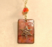 Copper Enamel Necklace - Pink I
