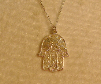 Filigree Hamsa Necklace