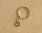 Dangle Ring - Silver Star of David