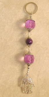 Lavender Crystal with Purple Pearl