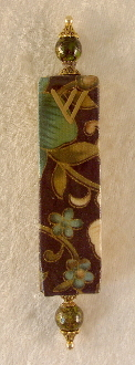 Elegant Mezuzah - Green and Gold Vines