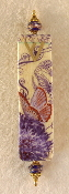 Elegant Mezuzah - Butterfly on Thistle I