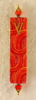 Elegant Mezuzah - Red Windings