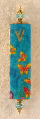 Elegant Mezuzah - Yellow Butterflies in the Sky