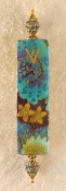 Elegant Mezuzah - Asian Blue Flowers