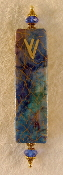 Elegant Mezuzah - Mixed Colors with Gold Threads