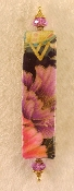 Elegant Mezuzah - Purple and Peach Carnations