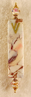 Elegant Mezuzah - Morning Bluebird