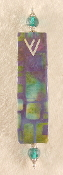 Elegant Mezuzah - Blue and Green Squares Batik