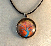 Glass Pendant - Tree of Life 1
