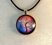 Glass Pendant - Tree of Life 2