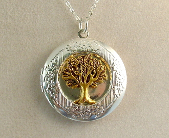Lockets - Gold Tree of Life