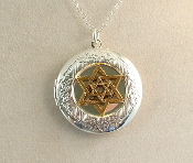 Lockets - Gold Star of David