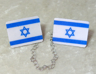 Flag of Israel Tallit Clips