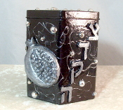 Tzedakah Box - Silver Pomegranate