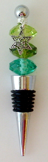 Shades of Green Crystal Wine Bottle Stopper