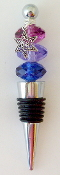 Sapphire, Indigo and Purple Crystal Wine Bottle Stopper