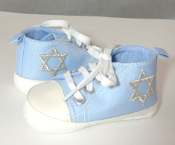 "Light Blue ""All-Stars"" Baby Shoes"