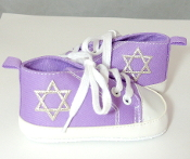 "Purple ""All-Stars"" Baby Shoes"