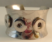 Silver Snap Button Cuff Bracelet