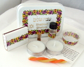 Travel Shabbat Kit - Rainbow Pansies