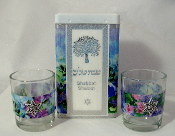 Match Box with Candle Holders - Blue Spring Garden