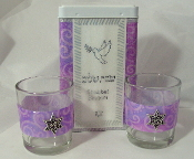Match Box with Candle Holders - Lavender Delight Swirls