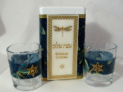 Match Box with Candle Holders - Dragonflies